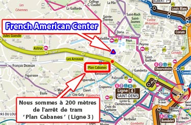 Map to the French-American Center