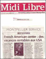 The French-American Center vous envoie aux Etats Unis