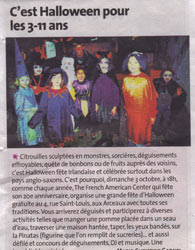 Article de Presse - Halloween au French American Center