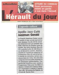 Article Presse - Herault du jour - V-day